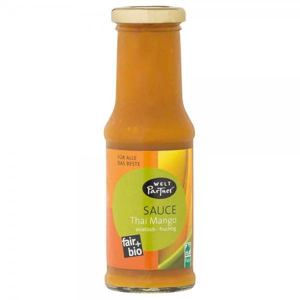 Bio-Sauce Thai-Mango-Bio-Sauce Grillsauce aus Fairem Handel-Fairer Handel mit Mangos und Saucen-Fairtrade Bio-Sauce Mango-Chili aus Indien und Thailand