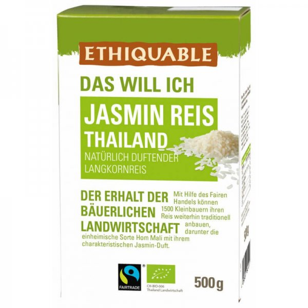 Bio-Jasminreis, weiss-Bio-Jasmin Duftreis Hom Mali von Ethiquable-Fairer Handel mit Reis und Getreide aus Thailand-Fairtrade Bio-Jasmin Duftreis von Kleinbauern