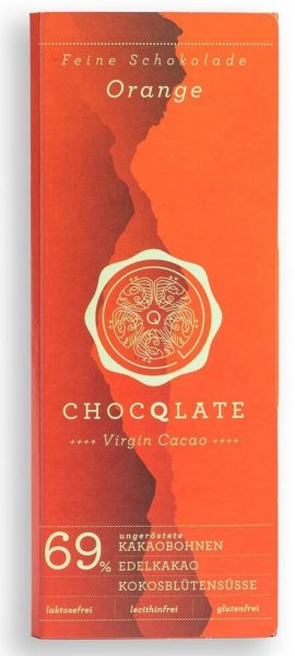 Bio-Schokolade Virgin Cacao Orange