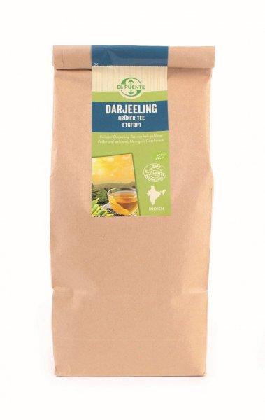 Bio-Darjeeling Grüntee FTGFOP1s, Grosspackung-Bio-Gruentee Darjeeling aus Fairem Handel von El Puente-Fairer Handel mit Tee von Kleinbauern-Bio-Darjeeling Gruentee FTGFOP1s in der Grosspackung