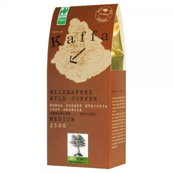 Bio-Röstkaffee aus Wildsammlung - medium, gemahlen-Bio-Kaffee Wildkaffee aus Fairem Handel-Fairer Handel mit Kaffee und Wildkaffee-Fairtrade Bio-Kaffee aus Wildsammlung aus Aethiopien