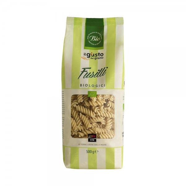 Bio-Fussili, aus Hartweizengriess-Bio-Fussili Hartweizengriess aus Fairem Handel von Libera Terra Sizilien-Fairer Handel mit Pasta ohne Mafia in Italien und Europa-Faitrade Bio-Fussili von Sozialkooperative aus Italien