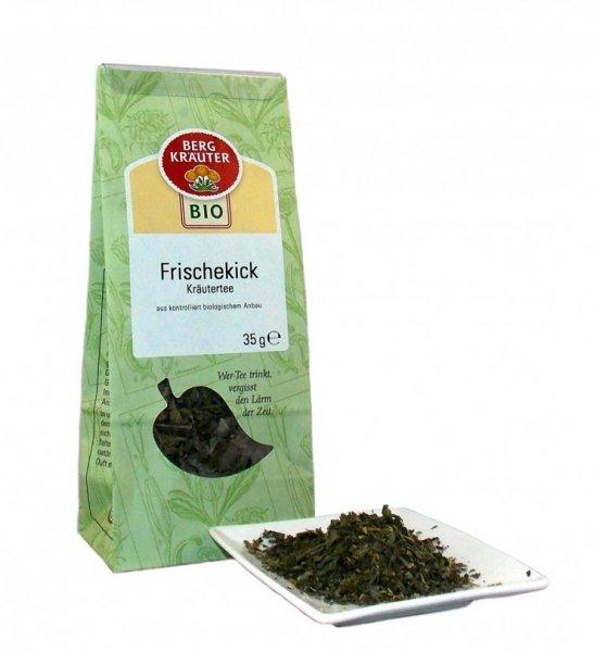 Bio-Kräutertee Frischekick-Bio-Kraeutertee Frischekick aus Fairem Handel von Bergkraeuter-Fairer Handel mit Tee und Kraeutern in Europa-Fairtrade Bio-Kraeutertee aus Oesterreich