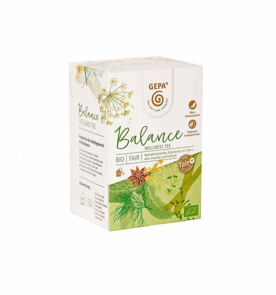 Bio-Wellness-Tee Balance-Wellness Bio-Kraeutertee aus Fairem Handel GEPA-Fairer Handel mit Tee, Kraeuter und Wellness-Fair Trade Bio-Kraeutertee aus Vietnam und Aegypten