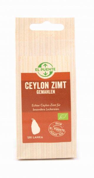 Bio-Ceylon Zimt, gemahlen-Bio-Zimt Ceylon aus Fairem Handel El Puente-Fairer Handel mit Gewuerzen und Kraeutern-Fair Trade Bio-Zimt gemahlen aus Sri Lanka