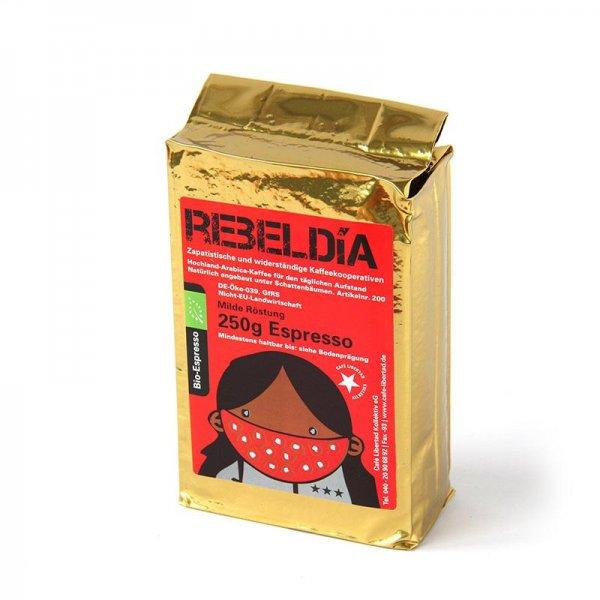 Bio-Espresso RebelDia, gemahlen
