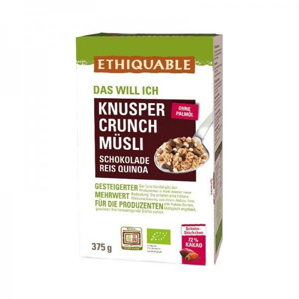 Bio-Muesli Knsuper-Crunch-Bio-Muesli Knusper-Crunch aus Fairem Handel-Fairer Handel mit Muesli und Cerealien-Fairtrade Bio-Muesli Knusper-Crunch von Ethiquable