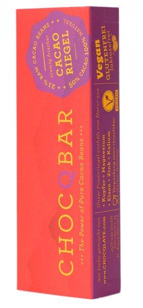 ChocQbar Bio-Superfood Kakaoriegel Pur