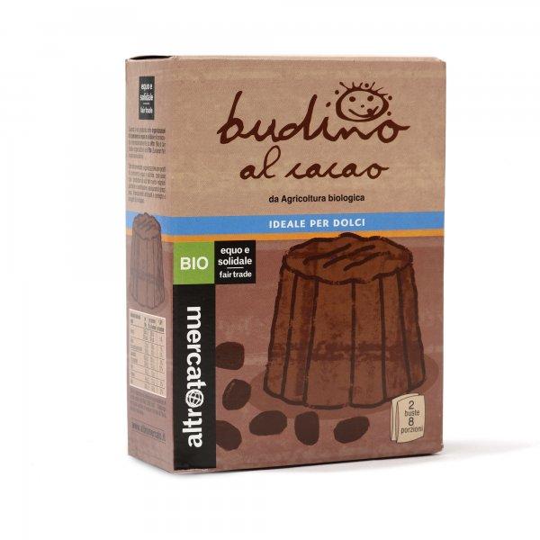 Bio-Pudding Schokolade-Bio-Schoko Pudding aus Fairem Handel von Altromercato-Fairer Handel mit Kakao und Zucker-Fairtrade Bio-Pudding von Kleinbauern Paraguay Dominikanische Republik