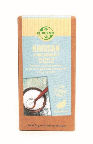 Naturreines Meersalz 'Khoisan', fein gesiebt - 500 g-Naturreines Meersalz Khosian mikroplastikfrei aus Fairem Handel von El Puente-Fairer Handel mit natuerlichem mikroplastikfreiem Meersalz-Fairtrade Meersalz naturrein von Turqle Trading aus Suedafrika