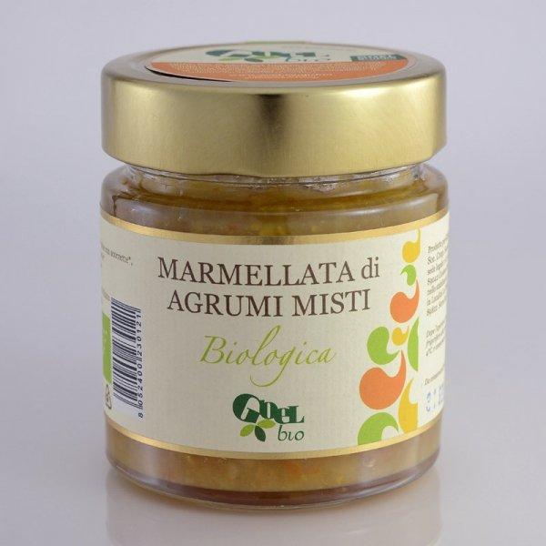 Bio-Marmelade gemischte Zitrusfrüchte-Bio-Marmelade Agrumi Misti gemischte Zitrusfruechte aus Fairem Handel von GOEL Bio-Fairer Handel mit Ztirusfruechten in Europa und Italien-Fairtrade Bio-Marmelade aus Italien ohne Mafia