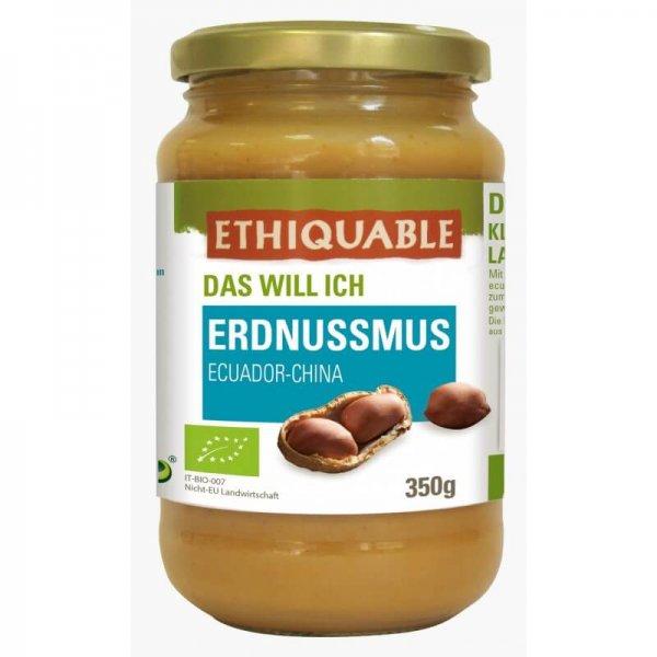 Bio-Erdnussmus-Bio-Erdnussmus aus Fairem Handel von Ethiquable-Fairer Handel mit Erdnuessen und Aufstrichen-Fairtrade Bio-Erdnussmus von Kleinbauern aus Ecuador
