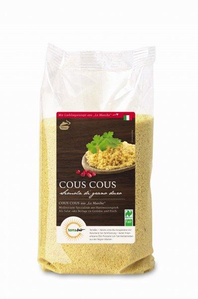 Bio-Cous Cous-Bio-Cous Cous aus Fairem Handel von Terra Bio-Fairer Handel mit Cous Cous und Getreide aus Europa-Fairtrade Bio-Cous Cous von Bio-Bauern aus Italien