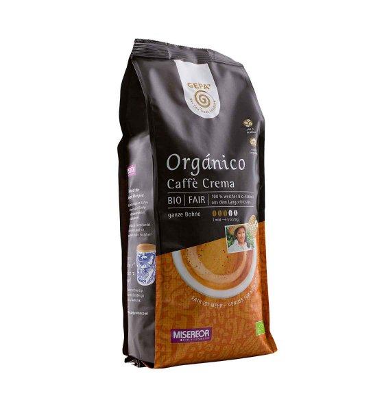 Bio-Caffè Crema Orgánico, ganze Bohne-Bio-Cafe Crema Organico ganze Bohne aus Fairem Handel von GEPA-Fairer Handel mit Kaffee und Kakao-Fair Trade Bio-Cafe Crema aus Mexiko, Peru, Honduras