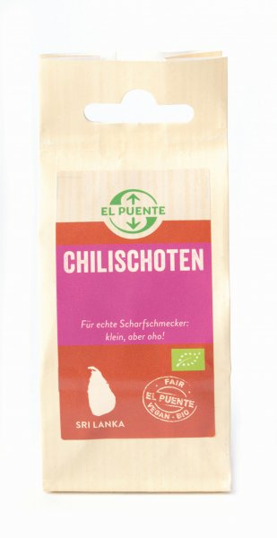 Bio-Chilischoten, getrocknet-Bio-Chilischoten ganz getrocknet aus Fairem Handel von El Puente-Fairer Handel mit Gewuerzen und Kraeutern-Fairtrade Bio-Chili von Kleinbauern aus Sri Lanka