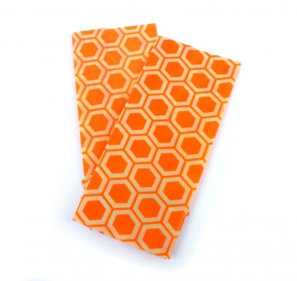 Bienenwachstücher Wabe aus Bio-Baumwolle - 2er Set-Bio-Baumwolle Bienenwachstuch aus Fairem Handel El Puente-Fairer Handel mit Bio-Baumwolle Zubehoer Kueche Einkauf-Fairtrade Bio-Baumwoll-Bienenwachstuecher aus Indien