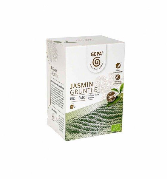 Bio-Grüntee Jasmin-Bio-Jasmintee aus Fairem Handel von GEPA-Fairer Handel mit Tee, Jasmintee und Gruentee-Fairtrade Bio-Jasmintee aus China