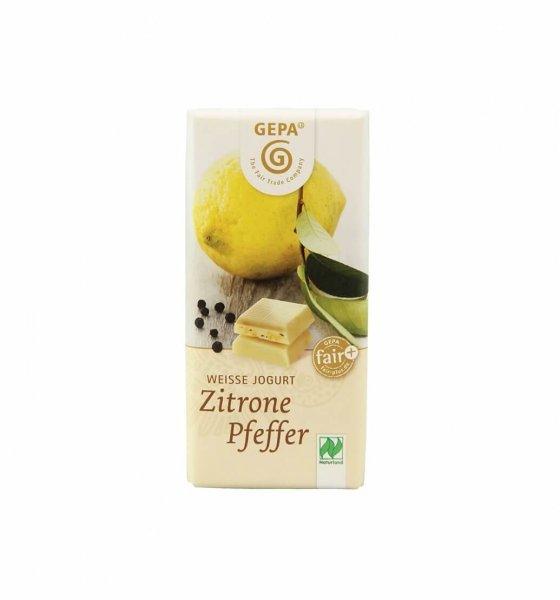 Weisse Bio-Schokolade Zitrone-Pfeffer