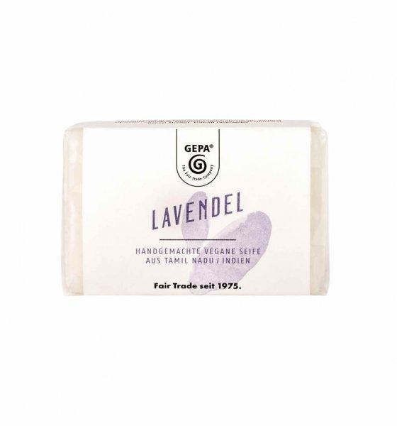 Natur-Seife Lavendel-vegane Natur-Seife Lavendel aus Fairem Handel-Fairer Handel mit Seifen und Naturkosmetik-Fairtrade Natur-Seife Lavendel aus Indien