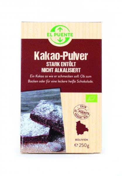 Bio-Kakao, stark entoelt-Bio-Kakao Kakaopulver aus Fairem Handel-Fairer Handel mit Kakao und Backzutaten-Fairtrade Bio-Kakao Kakaopulver aus Bolivien