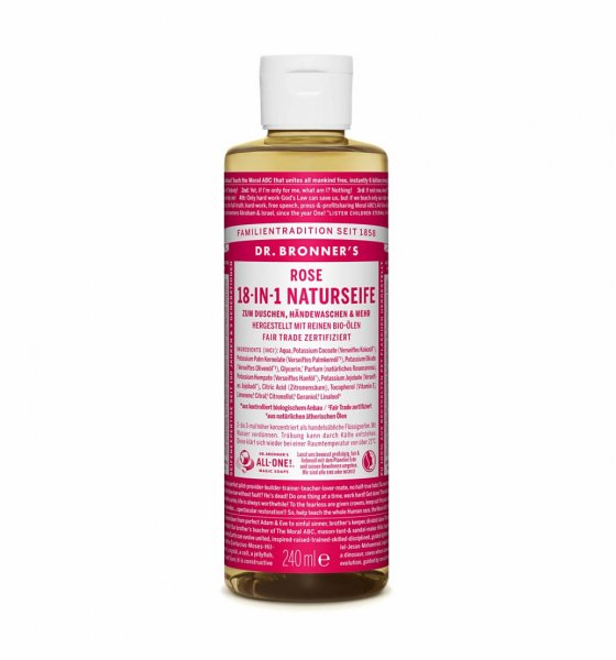 18-in-1 Naturseife Rose, 240 ml